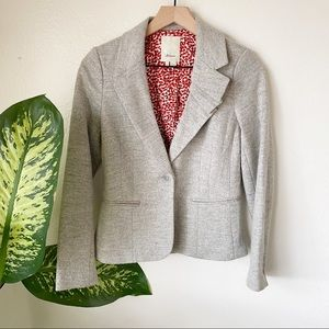 Anthropologie | Pleated Collar Blazer